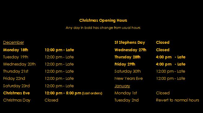 2017 xmas opening hours new